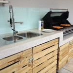 Polished concrete outdoor kitchen