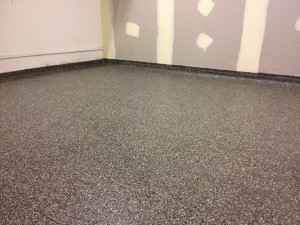 Black and grey mix cafe floor