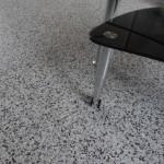 Polymer flake floor