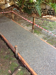 Washed aggregate path