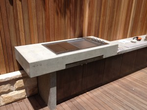 Polished Concrete outdoor BBQ